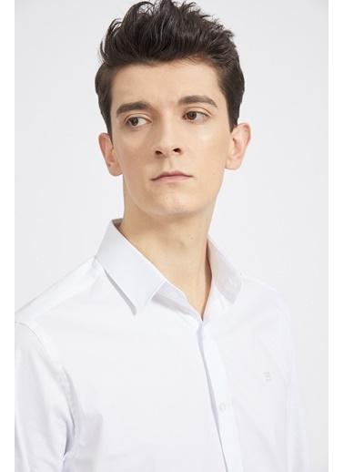 Avva Erkek  Düz Klasik Yaka Slim Fit Gömlek A02B2288 Beyaz